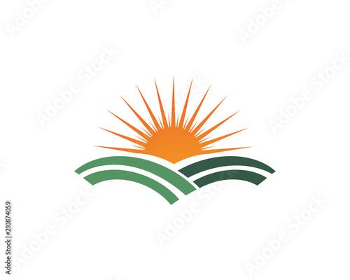 Sun And Leaf Go Green Leaf Logo Symbols Stock Image And Royalty