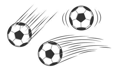 Soccer ball in motion. Vector illustration