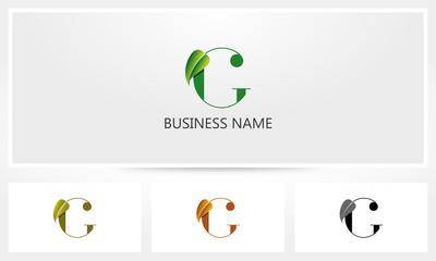 Letter G Leaf Sprout Logo