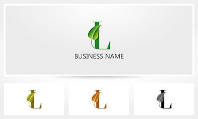 Letter L Leaf Sprout Logo