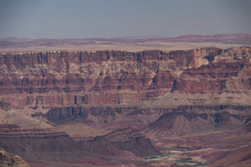 View of the Colorado River from Grandview Trail into the Grand Canyon, Arizona, USA