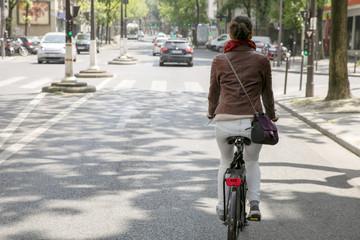 Bicycle ride in Paris  Fototapete