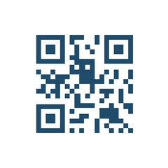 QR Code Flat Related Vector Icon. Isolated on White Background.