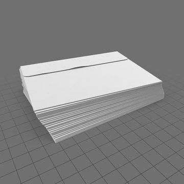 Stack of blank envelopes