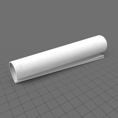 Blank rolled up newspaper