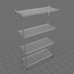 Tiered industrial shelves
