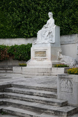 Monument of empress Elisabeth of Austria in Volksgarten Vienna