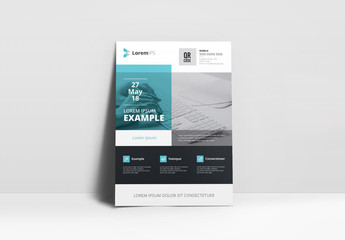 Blue and Gray Business Flyer Layout