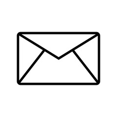 Email envelope outline shape with rounded corners icon vector icon. Simple element illustration. Email envelope outline shape with rounded corners symbol design. Can be used for web and mobile.