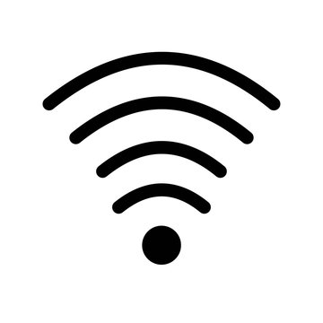Wifi full signal symbol icon vector icon. Simple element illustration. Wifi full signal symbol symbol design. Can be used for web and mobile.