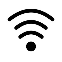 Wifi medium strength signal for interface icon vector icon. Simple element illustration. Wifi medium strength signal for interface symbol design. Can be used for web and mobile.