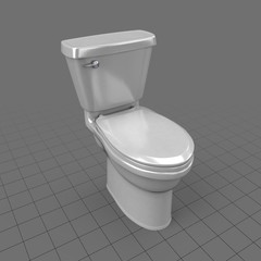 Modern toilet with lid down