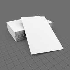 Blank stack of business cards