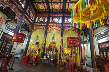 Interior of Hung King's Temple, located inside Botanical garden - Ho Chi Minh, Vietnam