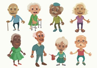 Old People Character set 1