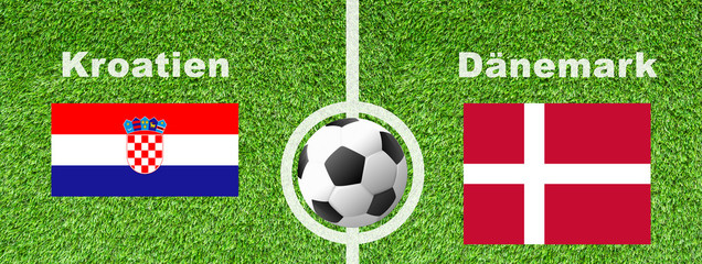 Fußball Achtelfinale - Kroatien gegen Dänemark