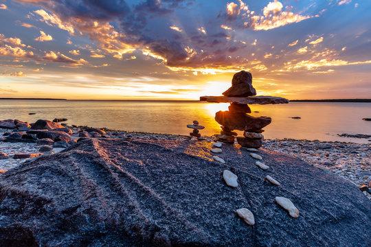 Lake Winnipeg Inukshuk