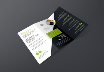 Business Brochure with Green and Yellow Accents