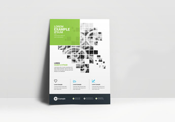 Business Flyer Layout with Segmented Photo Elements