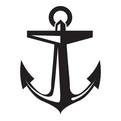 Ship anchor icon. Simple illustration of ship anchor vector icon for web design isolated on white background
