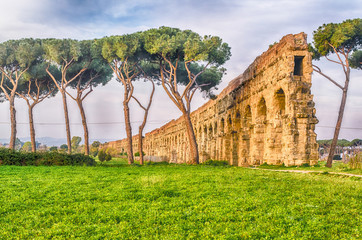 Fotomurales - Ruins of the Parco degli Acquedotti, Rome, Italy