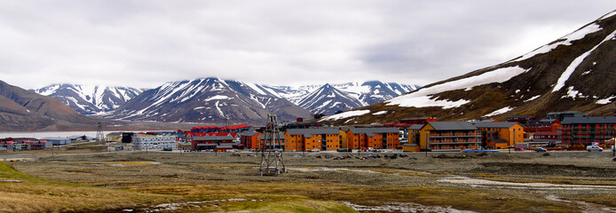 Architecture of Longyearbyen, Svalbard, Norway