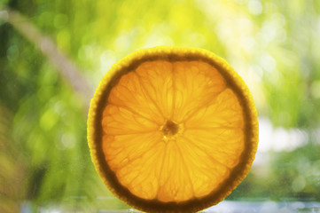 Sliced orange fruit picture image