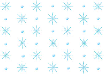Light blue snowflakes on a white background.