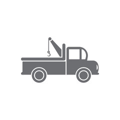 Pick-up truck with hook icon. Simple element illustration. Pick-up truck with hook symbol design from Transport collection set. Can be used for web and mobile