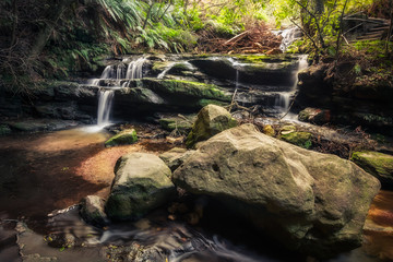 Stepping Cascade - Leura, Blue Mountains National Park, NSW, Australia.