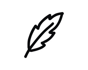 feather icon design illustration,hand drawn style design, designed for web and app