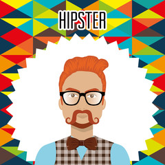 man style hipster character vector illustration design