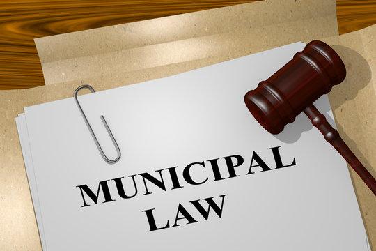 MUNICIPAL LAW concept