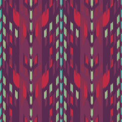 Ikat Seamless Pattern Design. Ethnic fabric. Bohemian fashion