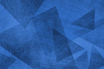 blue background with abstract pattern layers of blue triangle and diamond shapes
