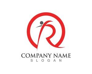 r letter people logo