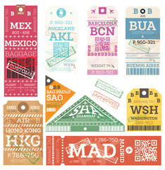 Retro Baggage Tags.