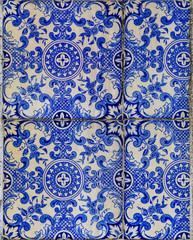 Traditional ornate portuguese azulejo tiles