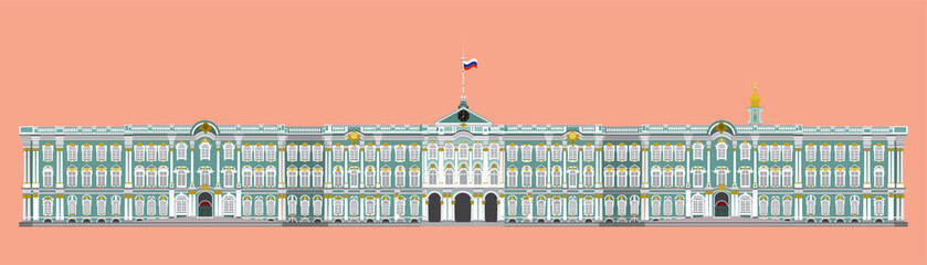 vector of hermitage museum st.peterburg,russia
