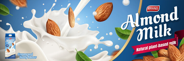 Almond milk ads