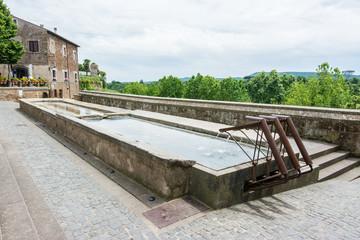 Sutri in Lazio, Italy. Ancient wash house