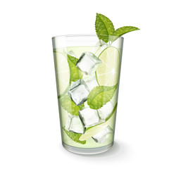 Mojito drink in glass cup