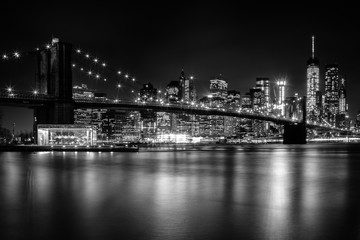 Fototapeten Brooklyn Bridge Brooklyn Bridge night lights