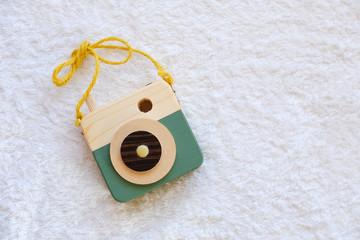 木製のカメラ