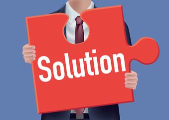 solution - projet - puzzle - concept - présentation - entreprise - conception - performance - problème