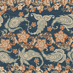 Paisley Floral oriental ethnic Pattern. Seamless Arabic Ornament.