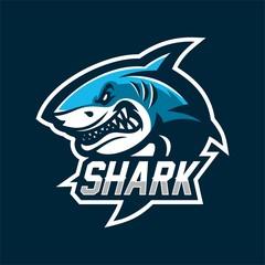 fish shark esport gaming mascot logo template