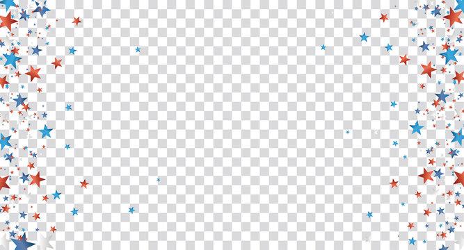 Stars Empty Space Centre Header Transparent