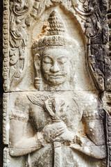 Budhist sculpture at Angkor Wat