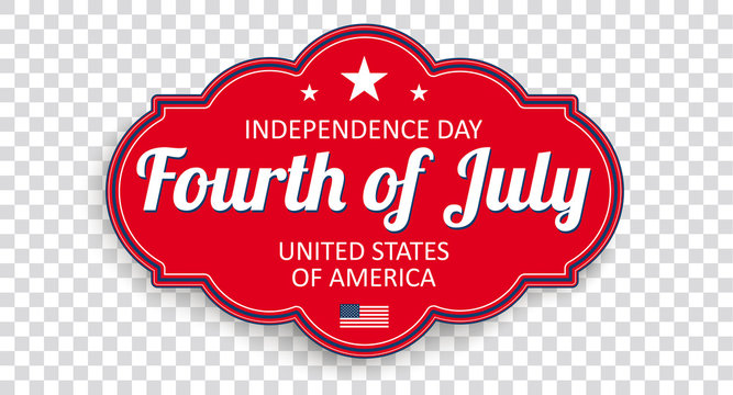 Fourth Of July Classic Label Transparent Header
